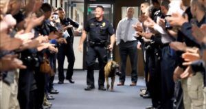 Officers Gift K9 With A Beautiful Goodbye As He Enters Retirement