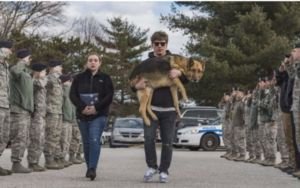 """Retired Military Dog Receives A Moving """"Last Call"""" Salute"""