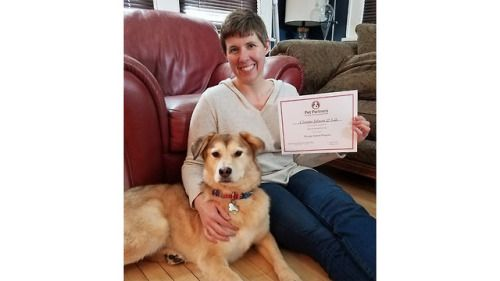Lily was adopted from the St. Paul location of the Animal Humane