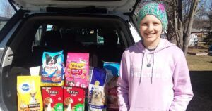 """Young Cancer Patient Spreads """"Pawsitive"""" Message To Animal Shelters Across The U.S"""