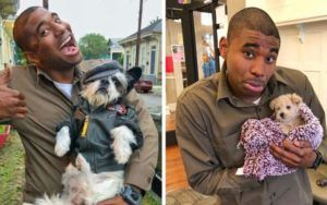 New Orleans UPS Driver Poses For Adorable Photos With Every Dog He Meets