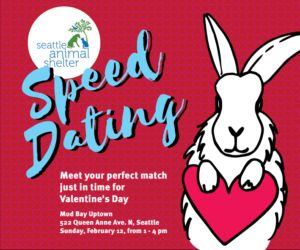 "Hoping for cuddle time this Valentine's Day? Come to ""Speed Dating"" and meet your furry match!"
