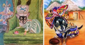 Support Chihuahua Serves As Muse And Model For Artist Mom