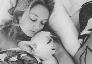 Billie Lourde Has The Paw-Fect Relationship With Late Mom Carrie Fisher's Dog