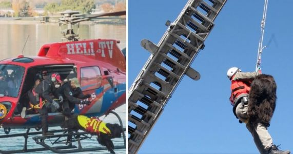 Italian Lifeguard Dogs Leap From Helicopters To Save People
