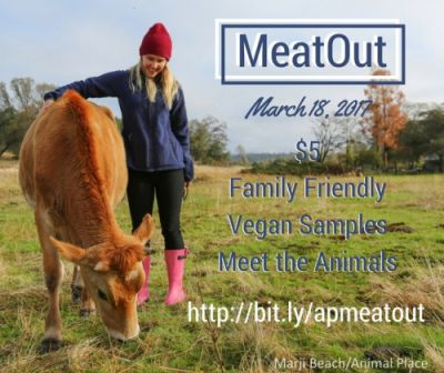 Register now! Join Animal Place for our MeatOut event at our