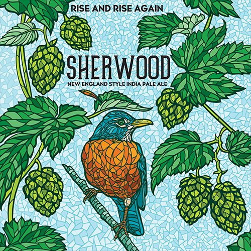 """""""Rise and Rise Again"""" - Connecticut Valley Brewing Company: Sherwood Double New England Style India Pale Ale"""