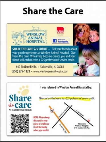 $25 Credit for Back to School Referrals! | Winslow Animal Hospital Dog & Cat