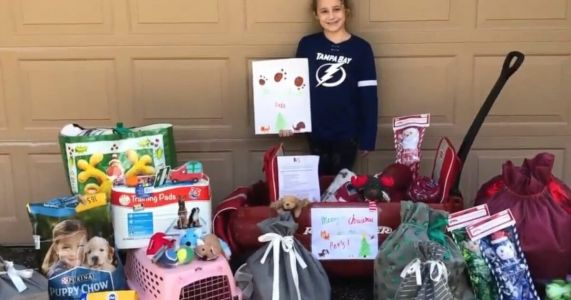 9-Year-Old Collects Huge Haul Of Donations For Animal Shelter